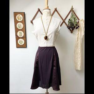 Burberry • Purple Knee Length Skirt